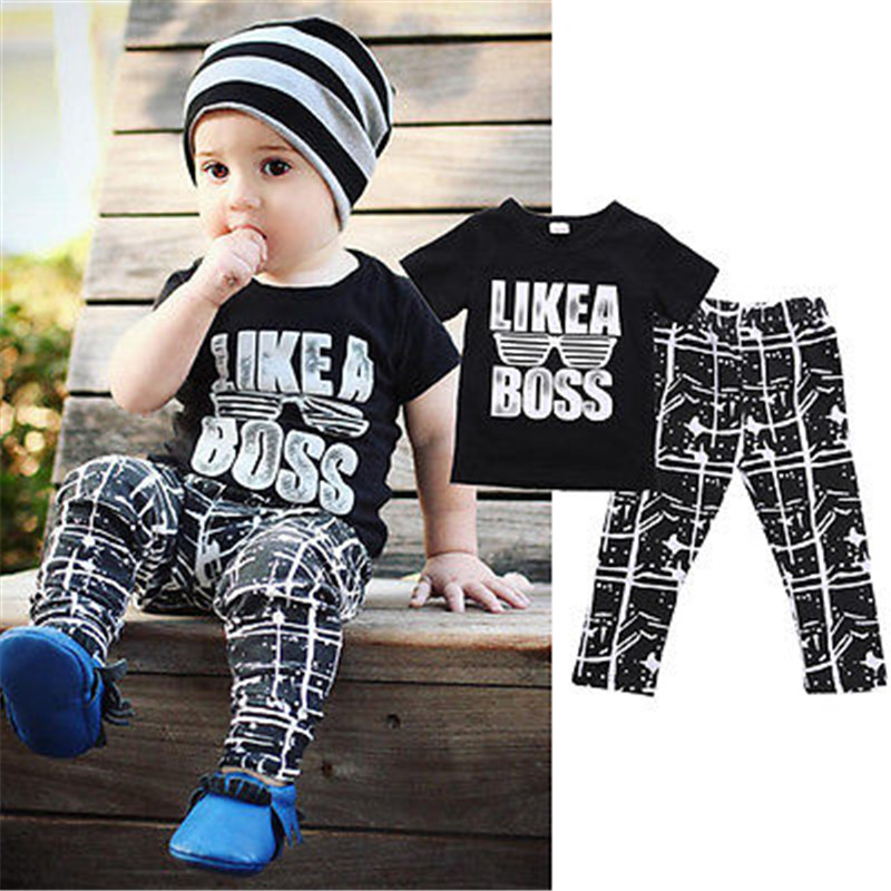 Baru Kedatangan Keren Bayi Laki laki Anak Musim Panas Set Lengan Pendek T shirt Tops Celana keren bayi beli murah keren bayi lots from china keren bayi,Pakaian Bayi Keren