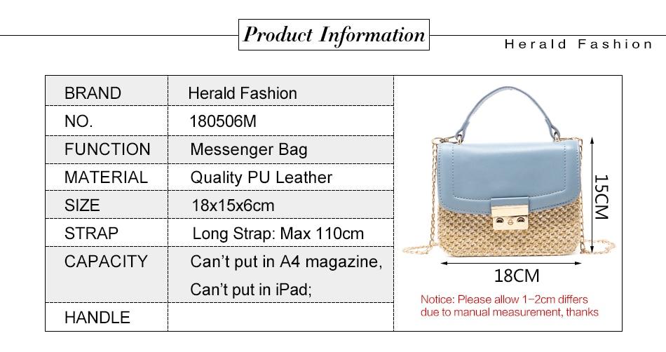Herald moda cerrojo de punto Top-handle bolsas mujer patrón Flap ...