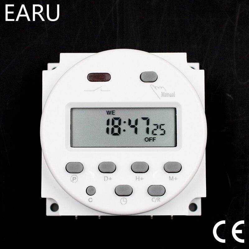 CN101A Minuterie Interrupteur AC/DC 12 V 24 V 110 V 120 V 220 V 230 V 240 V numérique LCD Puissance Semaine Mini Programmable Interrupteur Horaire Relais 8A à 16A