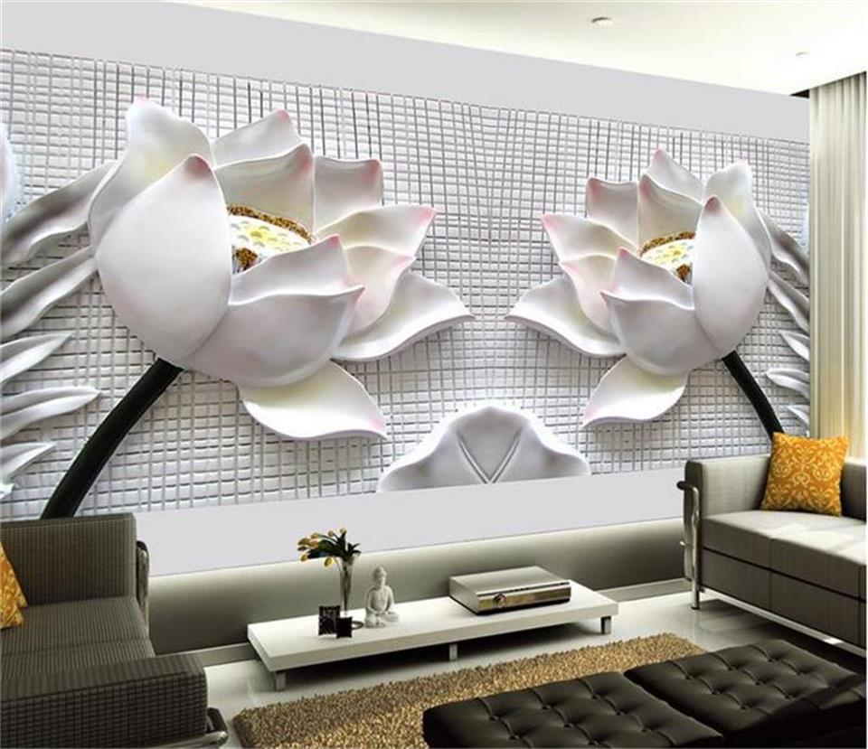custom 3d photo wallpaper living room mural embossed lotus flower picture photo sofa TV backdrop non-woven wallpaper for wall 3d wall decoration simple and stylish modern luxury outdoor swimming pool mural 3d wallpaper 3d wall papers for tv backdrop
