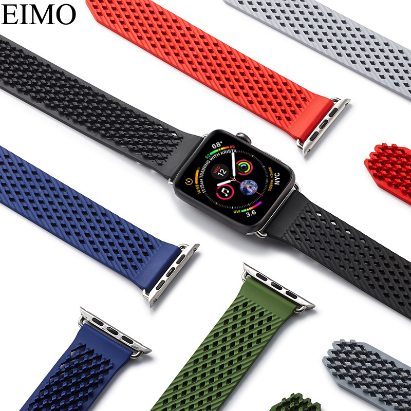 EIMO Sport Band For Apple Watch series 4 44mm 42mm iwatch 4 3 2 1 40mm 38mm Woven Silicone Strap Wristband Bracelet Accessories 20 colors sport band for apple watch band 44mm 40mm 38mm 42mm replacement watch strap for iwatch bands series 4 3 2 1