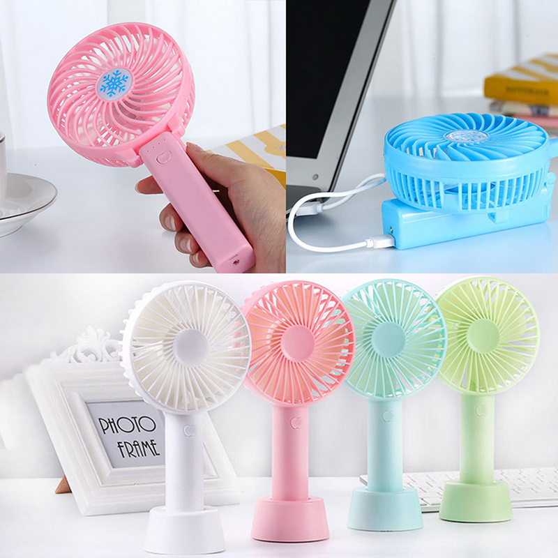 Mini Handheld Fan ABS Portable Personal Fan Office Outdoor Household Travel USB Rechargeable Low Noise 3 Speed Wind