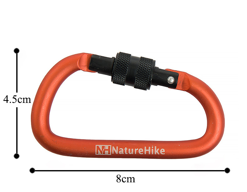 4Pcs Naturehike 8cm D formë alumini alumini karabiner Hiking Camping - Kampimi dhe shëtitjet - Foto 6