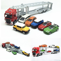 1:50 alloy engineering vehicles,high simulation Transport large trucks, big cars and small cars,educational toys,free shipping