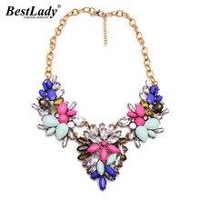 Best lady новый дизайн костюма моды цветок заявление ожерелья & подвески choker ожерелье ворота женщины b224