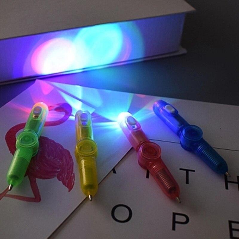 Wholesale Bluk order Glowing Toys for Children Rotation Pen Led Lights Hand Spinner Drawing Ballpoint Pen