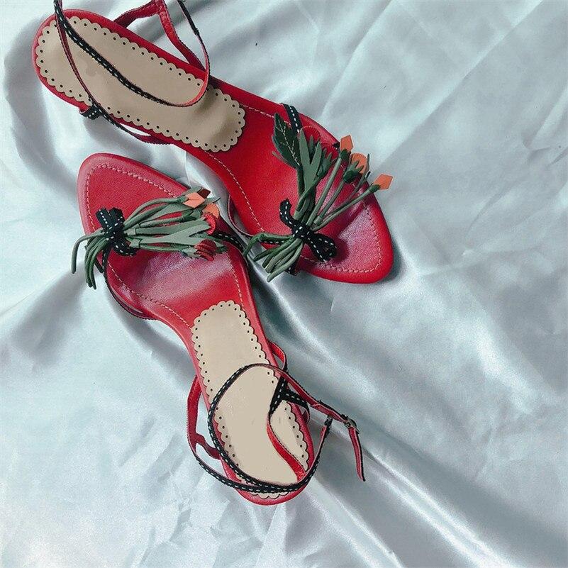 FEDONAS moda eleganckie kobiety sandały 2019 lato prawdziwej skóry kobiety pompy Pointed Toe wysokie obcasy Party buty ślubne kobieta w Średni obcas od Buty na  Grupa 1