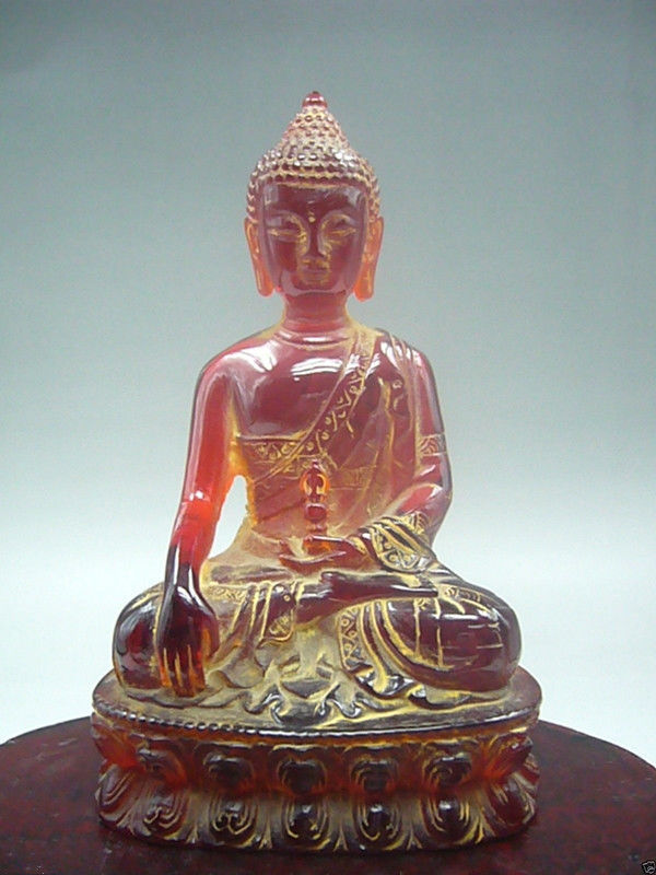 12 cm * / Chinese manual sculpture rare amber, Buddha had the figure of Buddha image