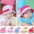 Sombrero del bebé de primavera y verano nueva impresión floral sombreros de sun algodón polka dot corazón cap niños niños niñas princesa bucket caps