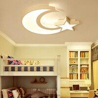 Звезда и Луна детская комната спальня гостиная люстра дома деко светодио дный современный светодиодный потолочный Люстра Fxitures