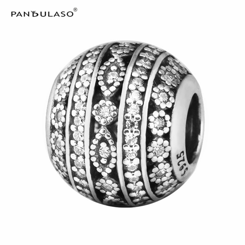цена Pandulaso Autumn DIY Stone Beads for Jewelry Making Clear CZ Shapes Crystal Beads Fit Original Charms Silver Bracelets & Bangles