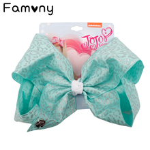 7 Inch Dot Print Hair bow With Card Hot stamping Cartoon Jumbo Clips Handmade Grosgrain Ribbon Girls Accessories