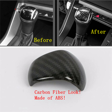 Yimaautotrims Gear Shift Shifter Knob Head Handle Cover Trim Fit For Audi Q3 2019 2020 Interior Mouldings Matte Carbon Fiber ABS yimaautotrims middle control gear shift multimedia cover trim interior mouldings fit for mercedes benz gle w166 2016 2017 2018