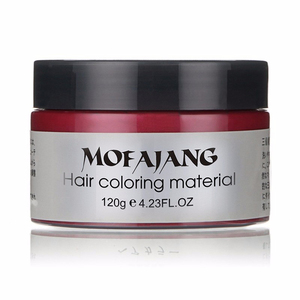 Image 3 - Mofajang Harajuku Style Styling Products Hair Color Wax Dye One time Molding Paste Seven Colors Maquillaje Make Up Hair Dye Wax