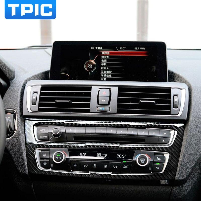 Carbon Fiber Car Interior Air Conditioning Cd Panel Cover Trim For