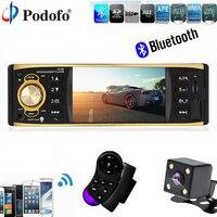 Podofo Car Radio Audio Stereo 1Din 4 1 Stereo Player MP3 MP5 USB AUX FM Bluetooth