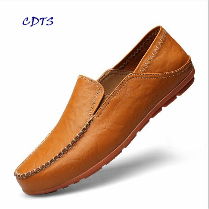 LLXF PLUS Size 37~46 High Quality Genuine Leather Men Soft Moccasins Loafers Fashion Men Flats Comfy Driving Shoes Free Shipping