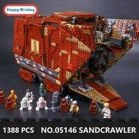 Legoingly Star War Desert Creeper Sandcrawler 05146 Building Blocks Bricks Educational Toys gifts 1388Pcs gift for boys GK30