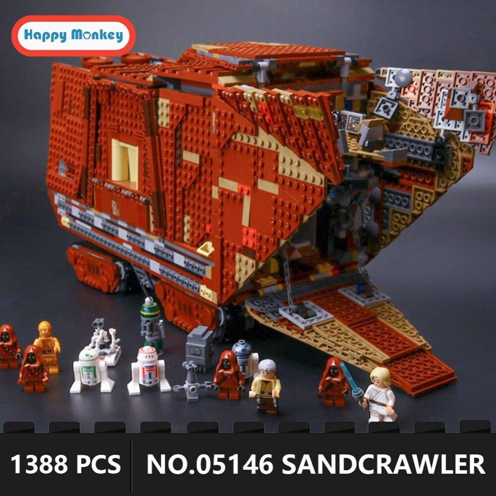 Avec Légèreté Étoiles Guerre Désert Creeper Sandcrawler 05146 blocs De Construction Briques Éducatifs jouets cadeaux 1388 pcs cadeau pour GARÇONS GK30