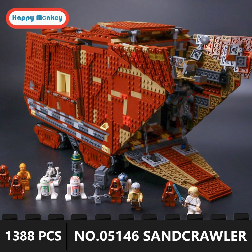 Legoingly Звездные войны пустыня Creeper Sandcrawler 05146 строительные блоки кирпичи развивающие игрушки Подарки шт. 1388 шт. подарок для мальчиков GK30