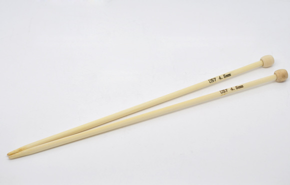 1 Pair 23cm Bamboo SP Knitting Needle( US Size 7/4.5mm) New