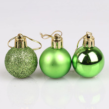 24pcs/lot Christmas Tree Decor Ball Bauble Hanging Xmas Party Ornament decorations for Home Christmas decorations 3cm