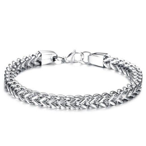 Braceletory mode edelstahl armband armreif zwei farben availble mit clip für mädchen oder jungen mode schmuck