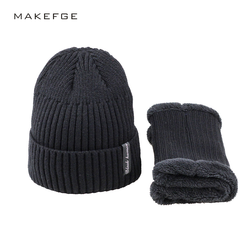2017 Winter Beanies Men Scarf Knitted Hat Caps  Gorras Bonnet Warm Baggy Winter Hats For Men Women Skullies Beanies Hats aetrue brand knitted hat winter beanies men caps mask gorras bonnet warm baggy winter hats for men women skullies beanies hats