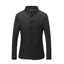 Chinesische Kragen Anzug Jacke Für Männer 2017 New Stehkragen Slim Fit Blazer Männliche Hochzeit Jacken Kostenloser Versand