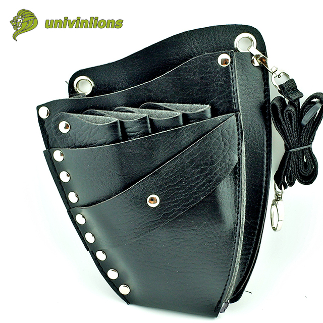 16 21 Cm Leather Barber Scissor Bag Salon Hairdressing Holster Shear Pouch Case Hairdresser With