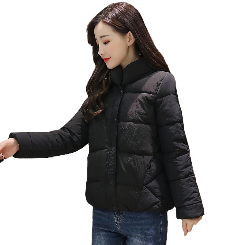 2019 New Arrival Winter Women   Jacket   Single Breasted Outwear Womens   Basic     Jacket   Padded Short Autumn Ladies Coats Chaqueta Mujer