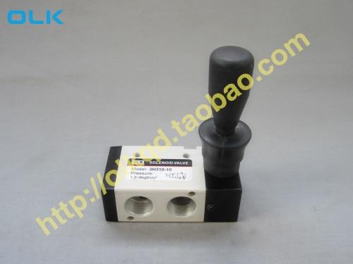 цена на Free Shipping 1/4 2 Position 3 Port Air Manual valves 3H210-08 Pneumatic Control Valve
