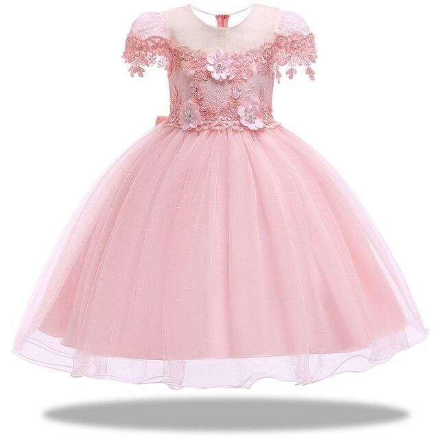 520b4d94c68 Bébé fille princesse robes broderie enfants vêtements robe de mariée pour  fête d anniversaire enfants