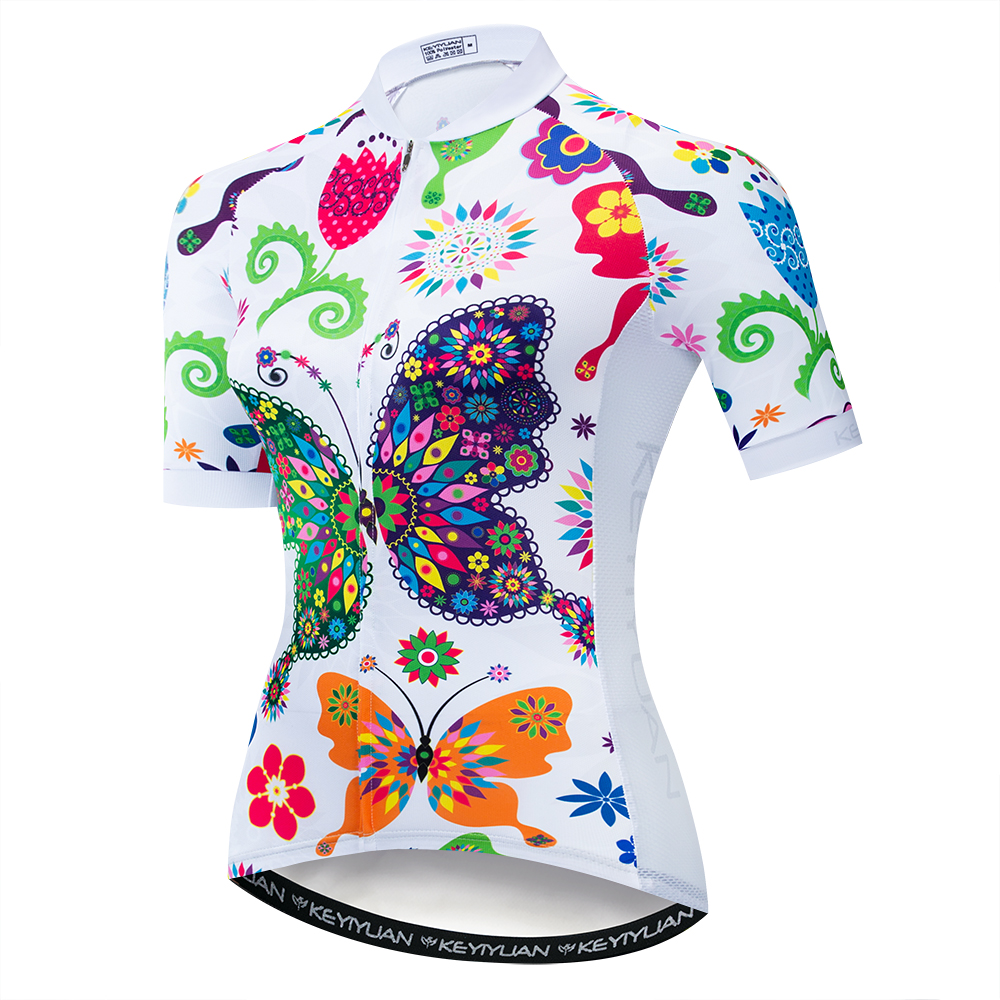 Cycling Jersey 2020 women Bike Jerseys road MTB bicycle shirts Ropa Ciclismo maillot Racing tops breathable girl cycle top White