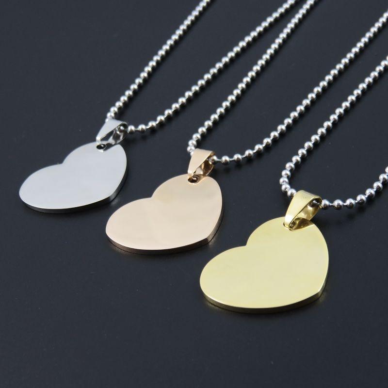 collier coeur pour homme