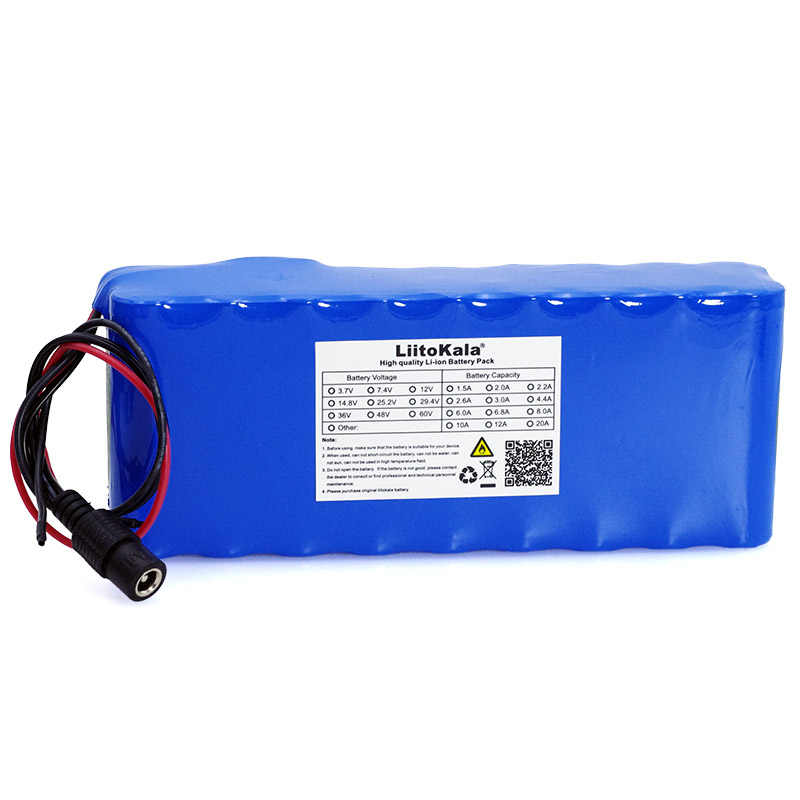 LiitoKala 12 В 18650 литий-ионный Батарея пакет с BMS защитной пластиной 12000 мАч 12A Охота ксенон рыбалка лампы С помощью лампы