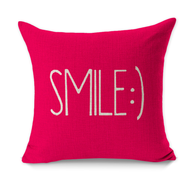 RUBIHOME Creative Decorative Cushion Cover Throw Pillowcase Polyester Thick  Fabric Home Decor Letter Smile Dear Design-in Cushion Cover from Home & ...