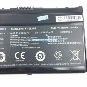 Image 4 - Originale Li Ion Batteria per CLEVO W370BAT 8 6 87 W370S 4271 6 87 W37SS 427 K590S Batteria Del Computer Portatile 14.8V 5200mAh 76.96Wh