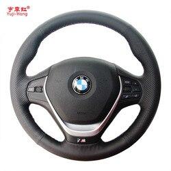 Yuji-hong sztuczna skóra pokrowce na kierownicę samochodową Case dla BMW 320i M135i 2013 320D 335i 328i F20 F30 ręcznie szyte okładka