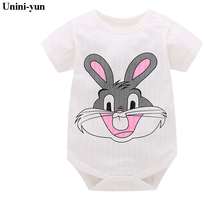 636ba2c8b 2018 NEW Baby Girl Clothing Lucky Child Cotton Rabbit Print Rompers ...