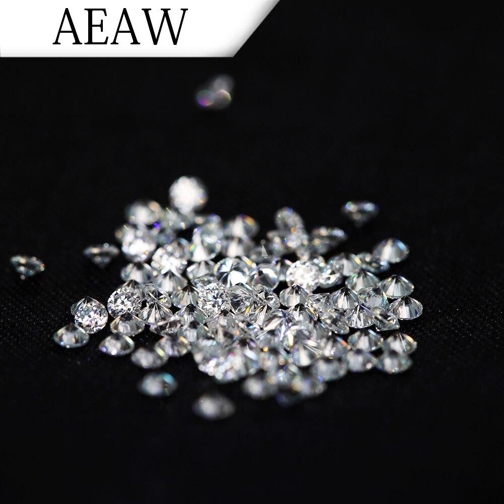 Aeaw 2.5mm 총 1 ctw 캐럿 df 컬러 인증 모이 사 나이트 다이아몬드 루스 비드 테스트 긍정적 인 영원히 비슷한-에서루즈 다이아몬드&보석부터 쥬얼리 및 액세서리 의  그룹 1