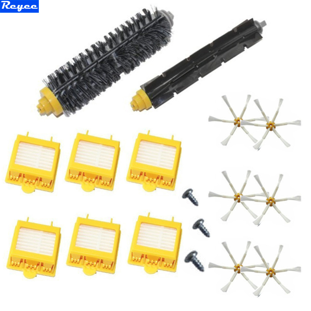 6x HEPA Filter+ Side Brush&1 Bristle and Flexible Beater Brush for iRobot Roomba 700 Series 770 780 790 Cleaer Accessory hepa filter side brush kit bristle and flexible beater brush suitable for irobot roomba vacuum parts 700 760 770 780 series