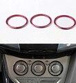 3 шт. AC кондиционер регулировка кнопка включения крышка декоративное кольцо наклейки для форд фокус MK3 2012 - 2014