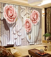 Fashion 3D Home Decor Beautiful relief 3d curtain flower fashion decor home decoration for bedroom living room curtain