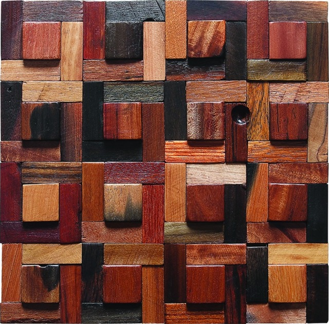 irregular reclaimed wood wall tiles country style colorful wooden