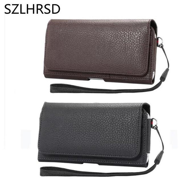 6f9debbe81 SZLHRSD Holster Case For Ulefone Power 3S Cover Men Belt Clip Leather Pouch  Waist Bag Phone
