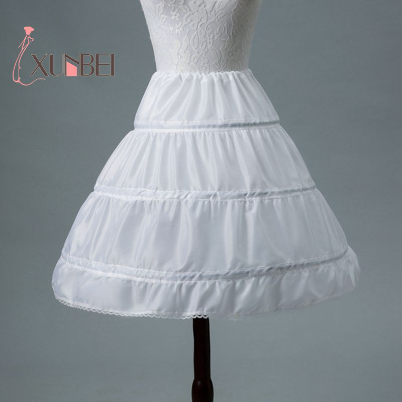 Brand New White Kids Short Flower Girl Dress Petticoat Child Short ...