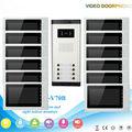 "12 Apartment Wired Video Door Phone Intercom System 7""Inch Monitor IR Camera Video Intercom DoorPhone Doorbell Kit"