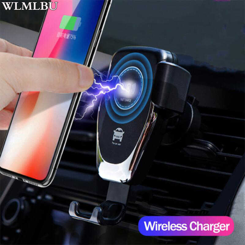 Cepat 10 W Wireless Charger Mobil Udara Vent Gunung Ponsel Pemegang untuk iPhone X Max Samsung S9 Xiaomi Mix 2 S Huawei Mate 20 Pro 20 RS