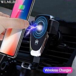 Rápido 10 w sem fio carregador de carro ventilação ar montar suporte do telefone para o iphone xs max samsung s9 xiaomi mix 2 s huawei companheiro 20 pro 20 rs